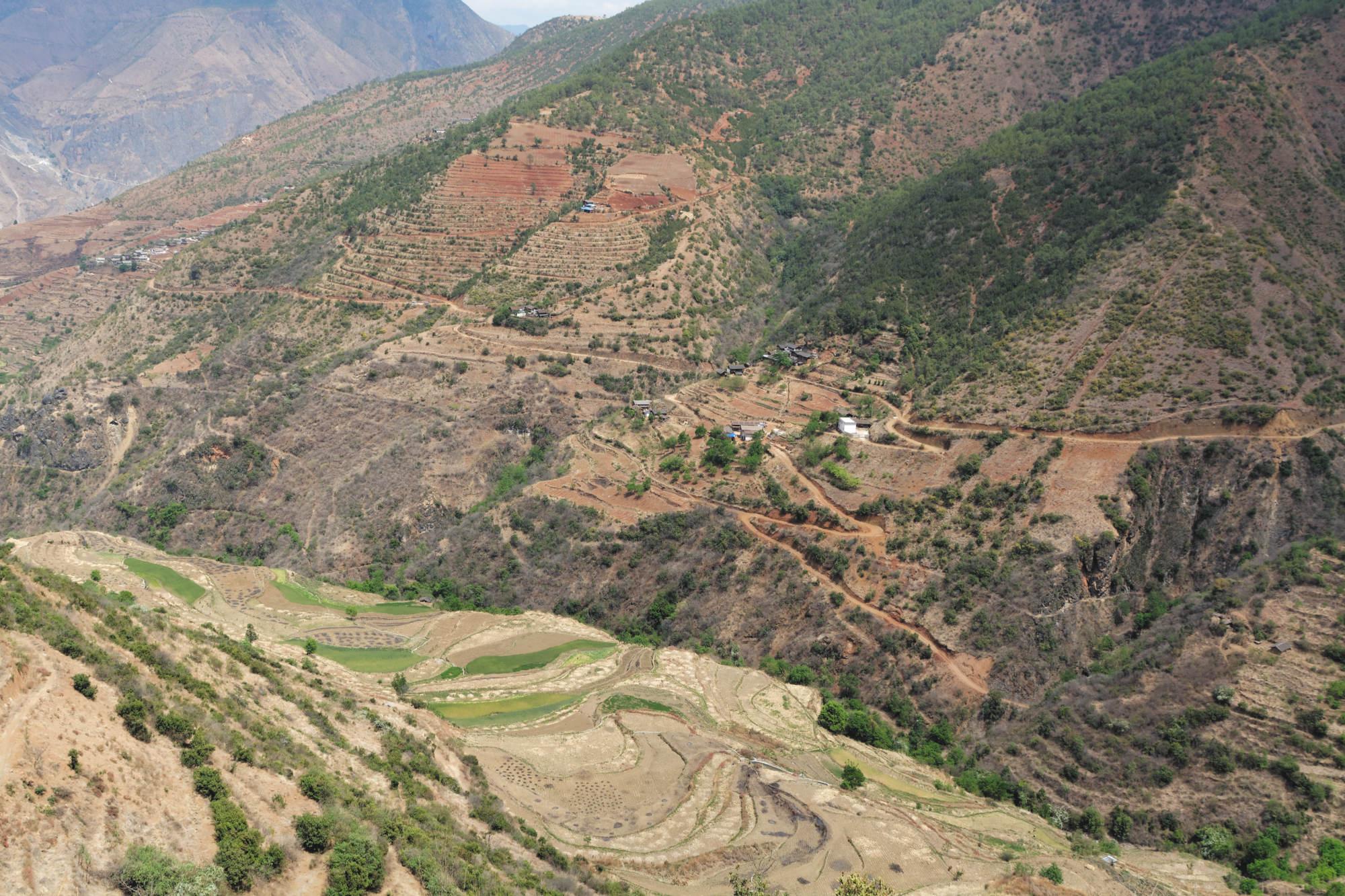 Vallée de Wumu, cultures en terrasses