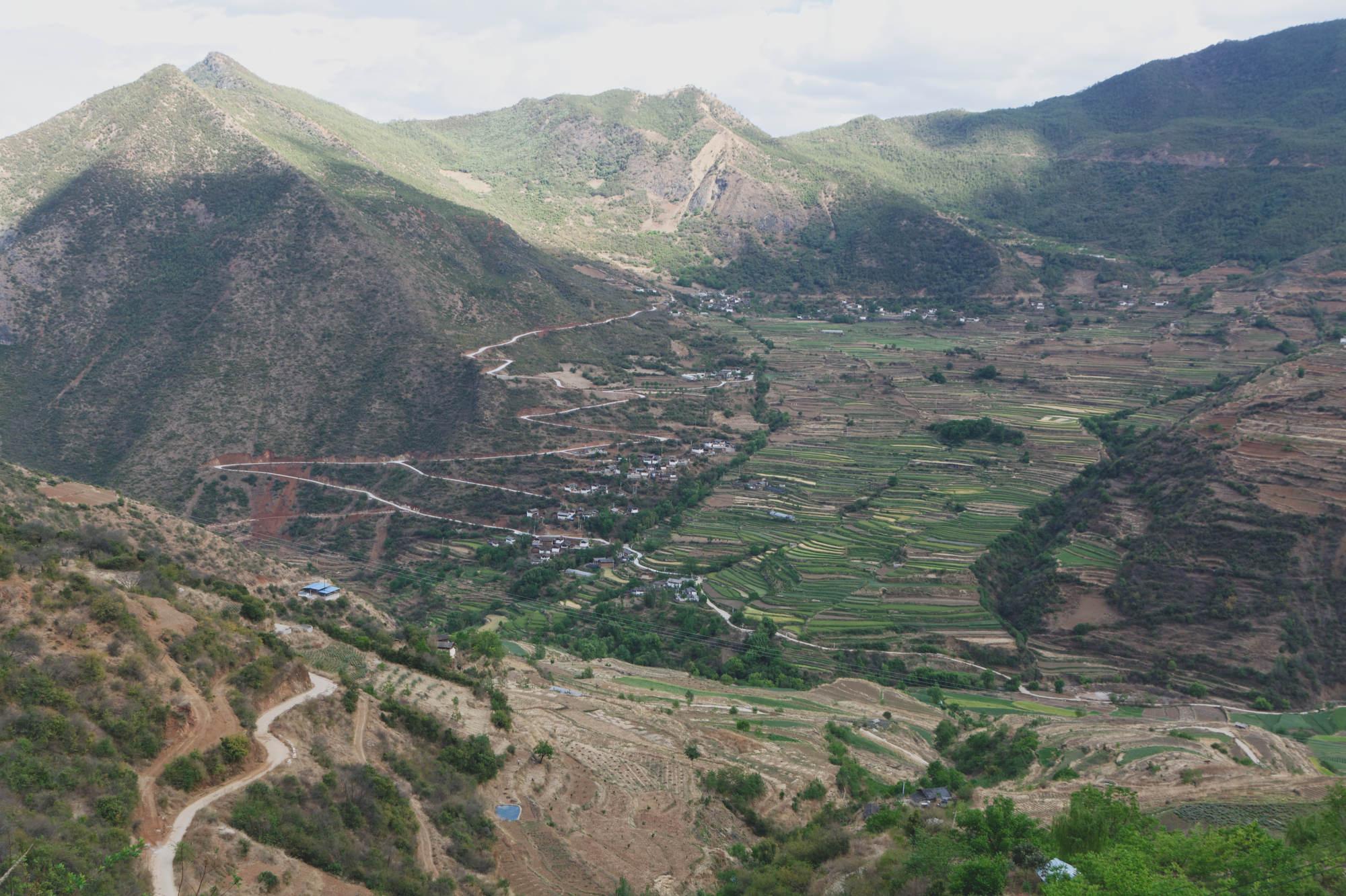 Vallée et cultures en terrasses