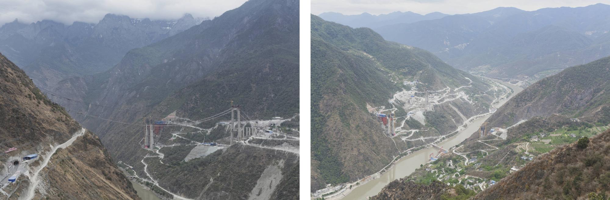 Ponts routiers et ferroviaires au-dessus du Yangtze