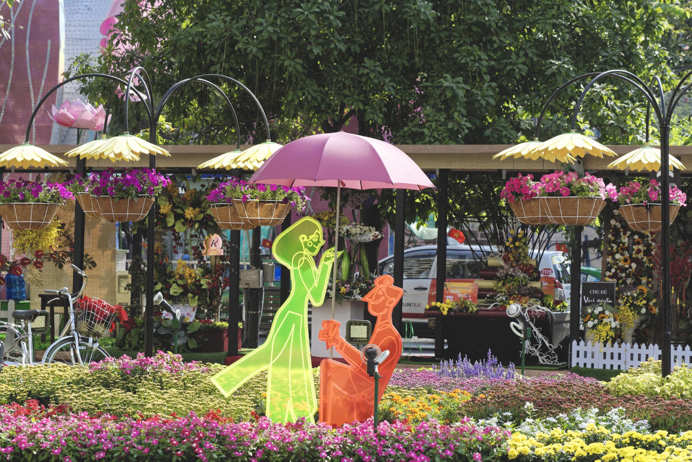 Préparatifs du Têt Hô Chi Minh Ville Saigon