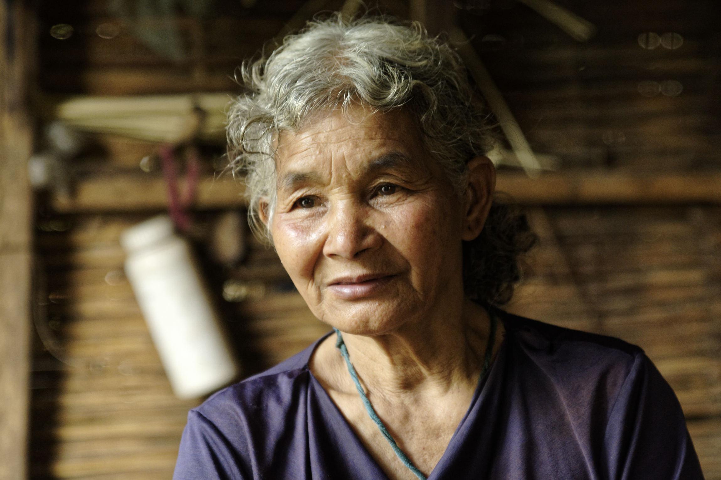 Portrait femme sans âge Kon Brap Yu Kontum