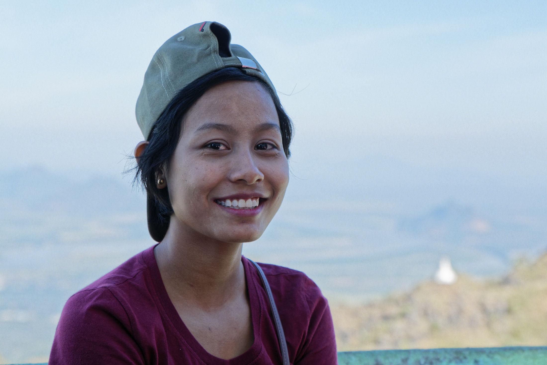 Portrait d'une jeune fille au Mont Zwekabin