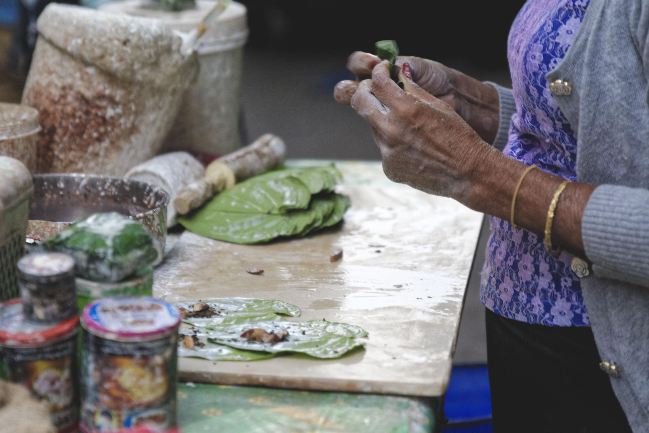 Préparation bétel Yangon