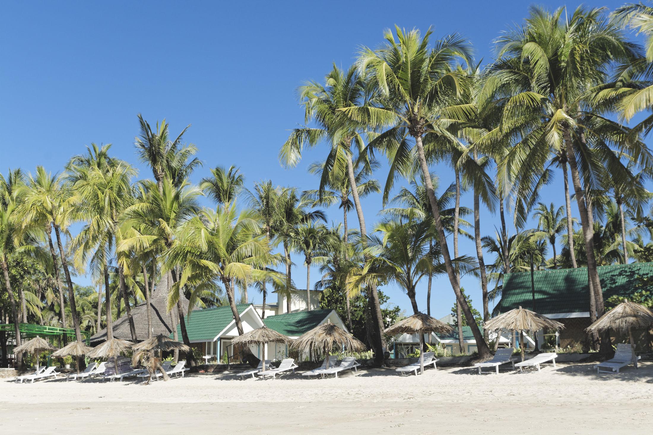 Ngapali plage et transats