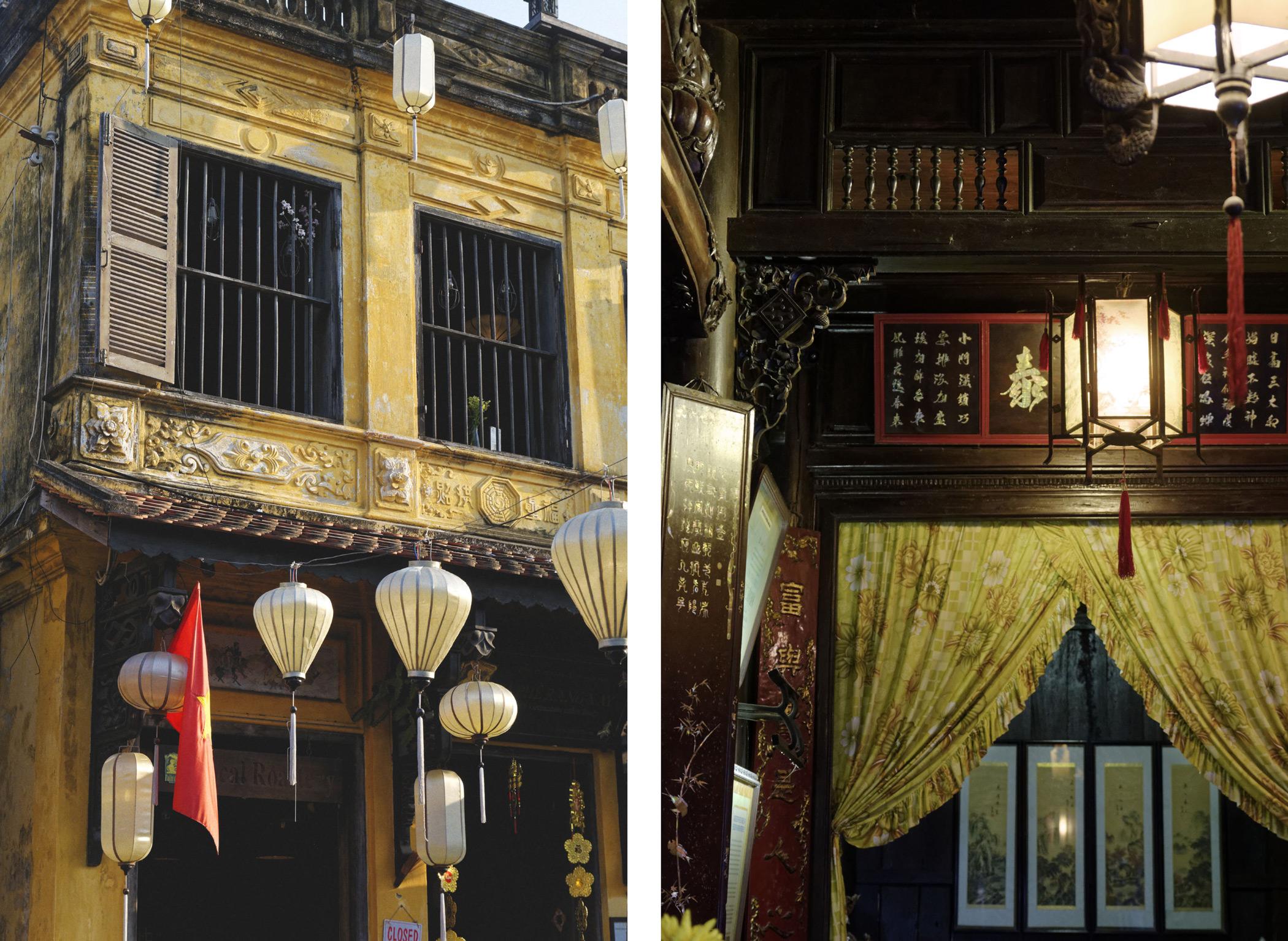 Lampion et maison traditionnelle Hoi An