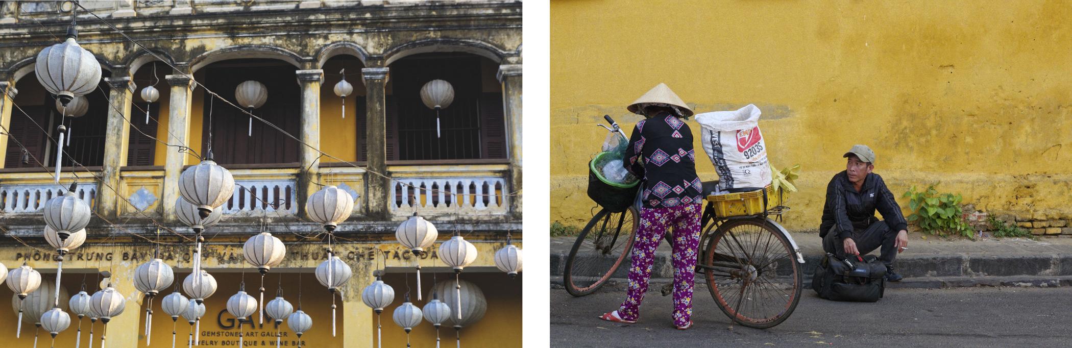 Lampions et murs jaunes Hoi An