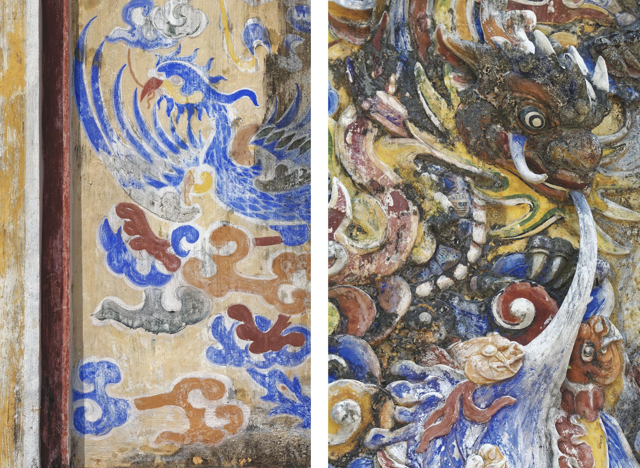 Dragons peinture et sculpture