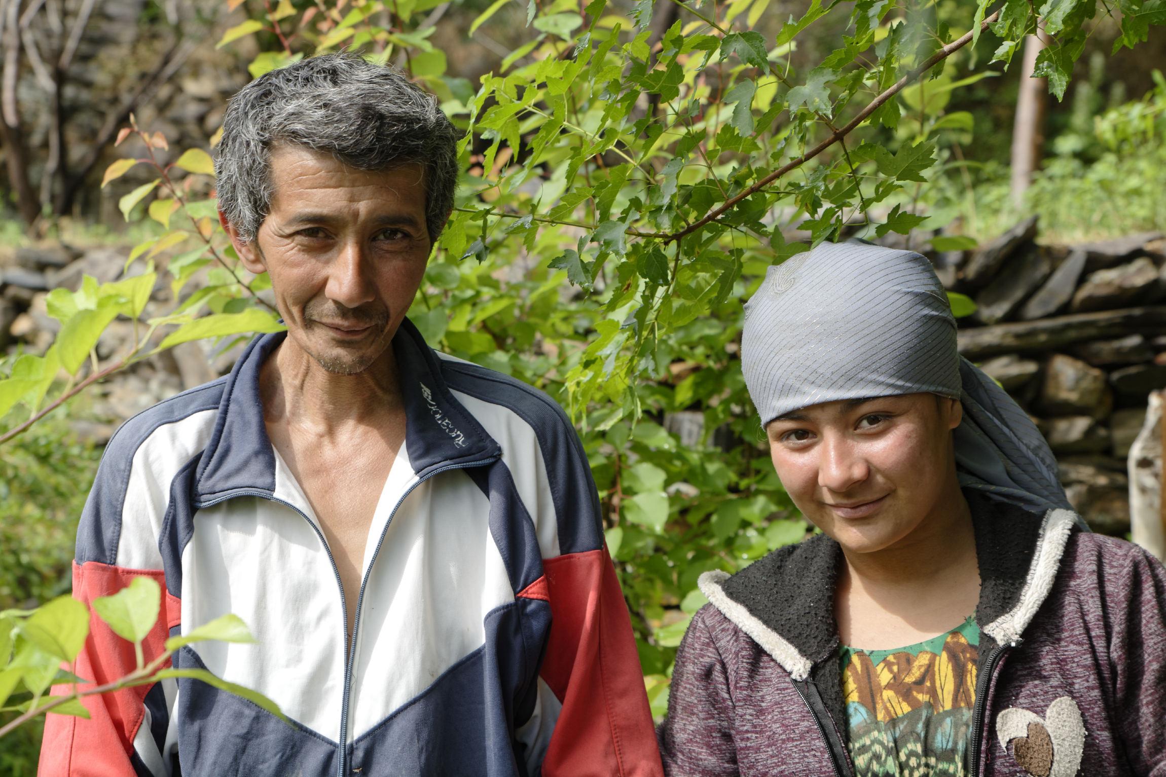Père et fille tadjiks