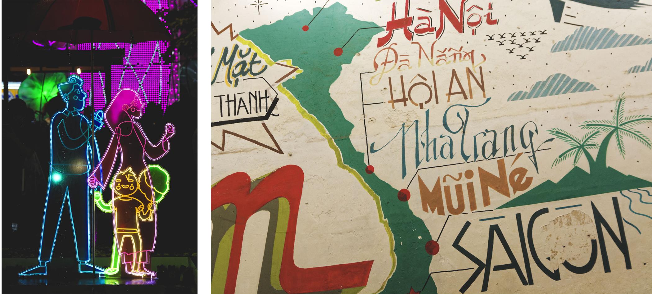 Préparatifs du Têt et street art