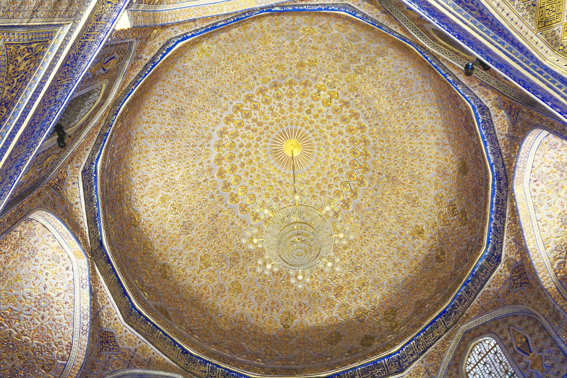 Plafond mausolée Gur e Amir Samarcande
