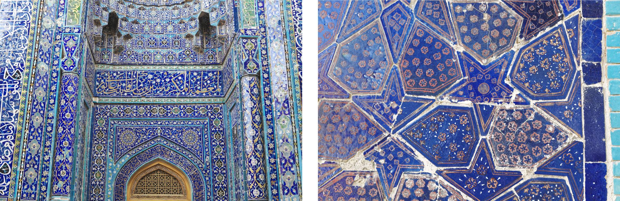 Nécropole Shah i Zinda Samarcande majoliques