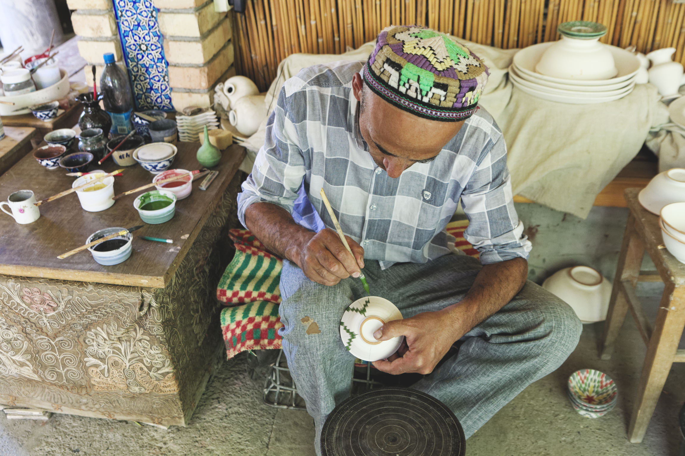 Ouzbékistan Ferghana Richtan céramique