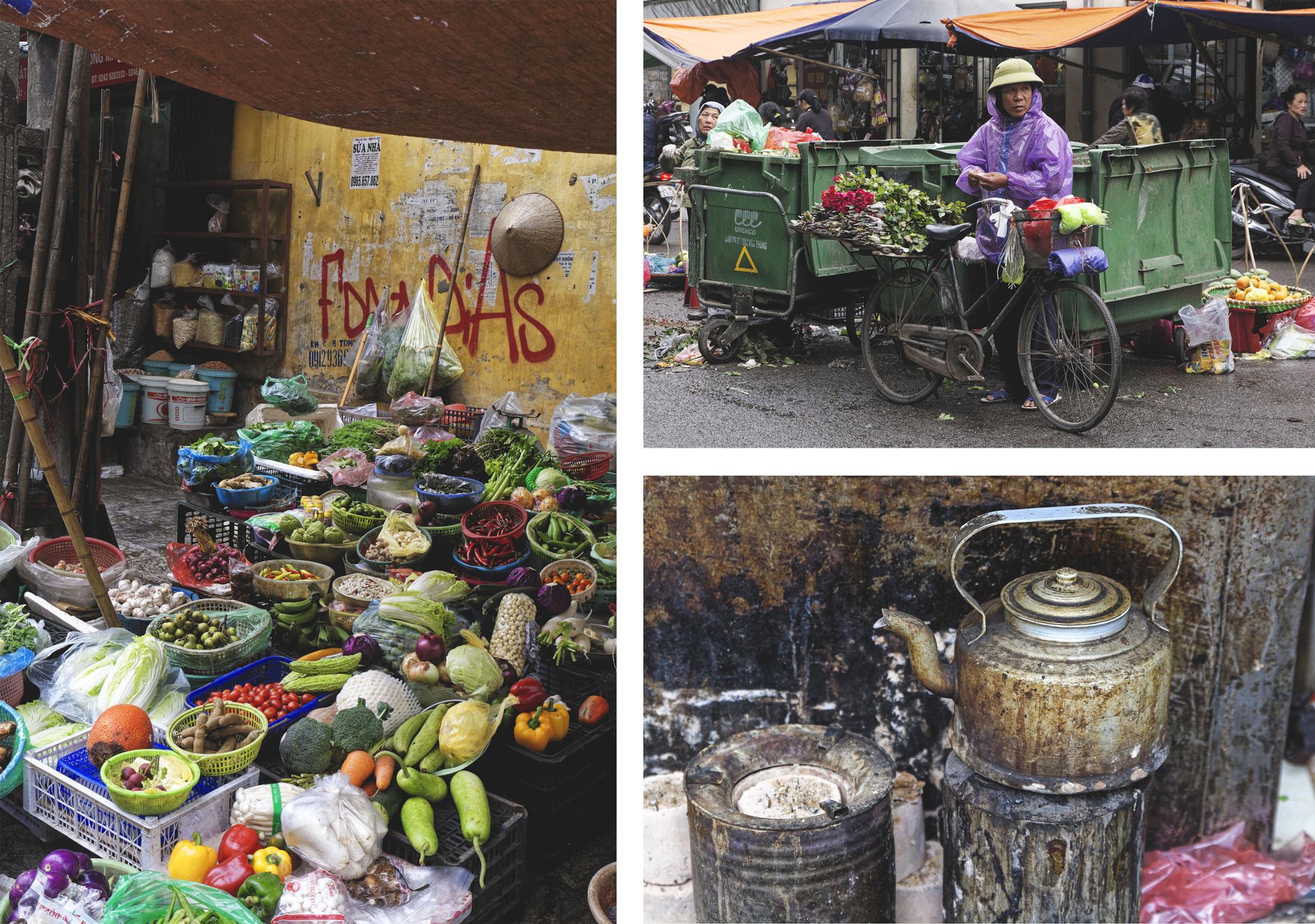 Scènes de rue et marchés Hanoi