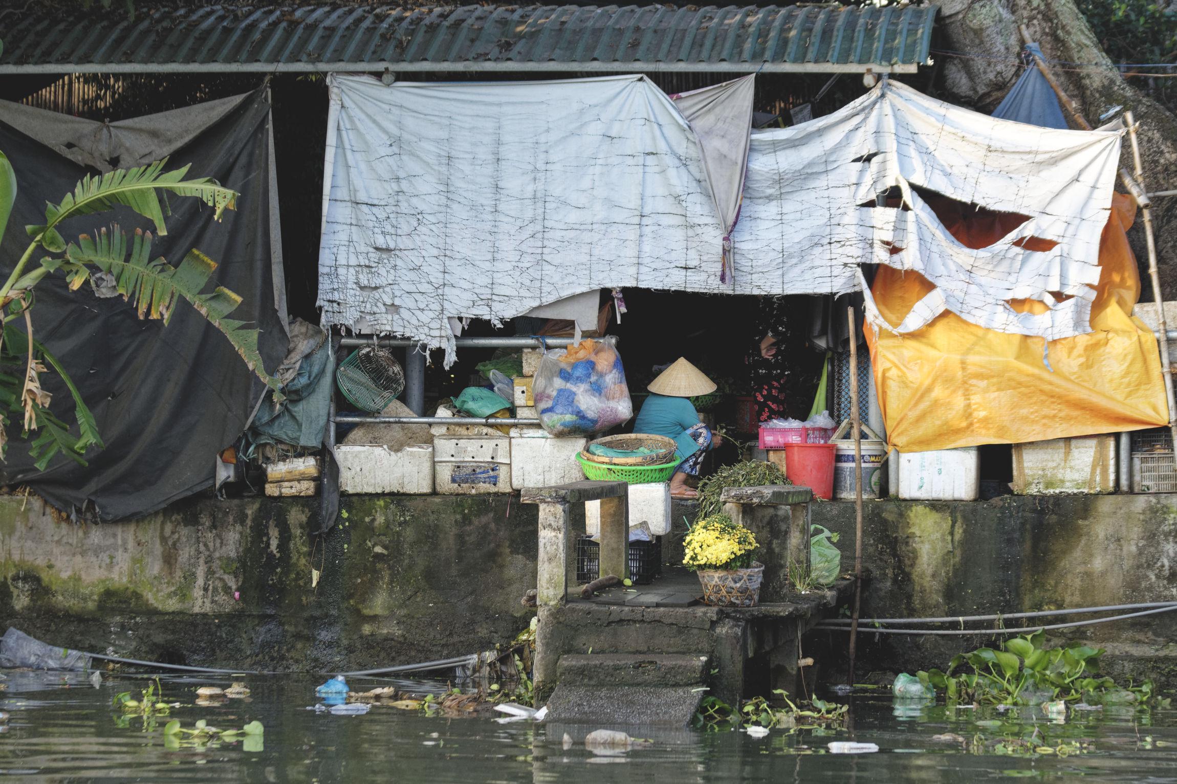 Delta du Mékong cuisine sur fleuve