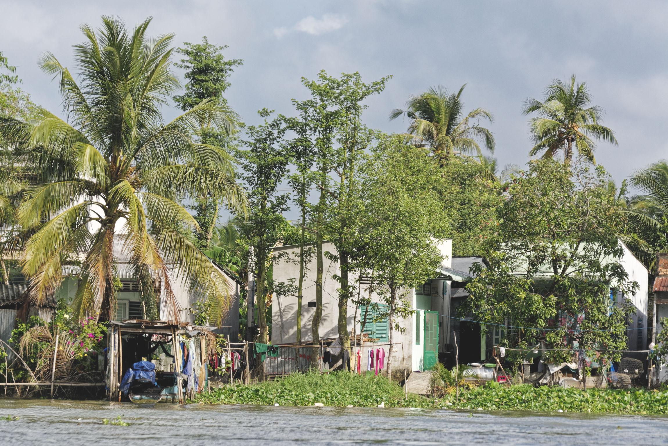 Delta du Mékong maison en bord de fleuve