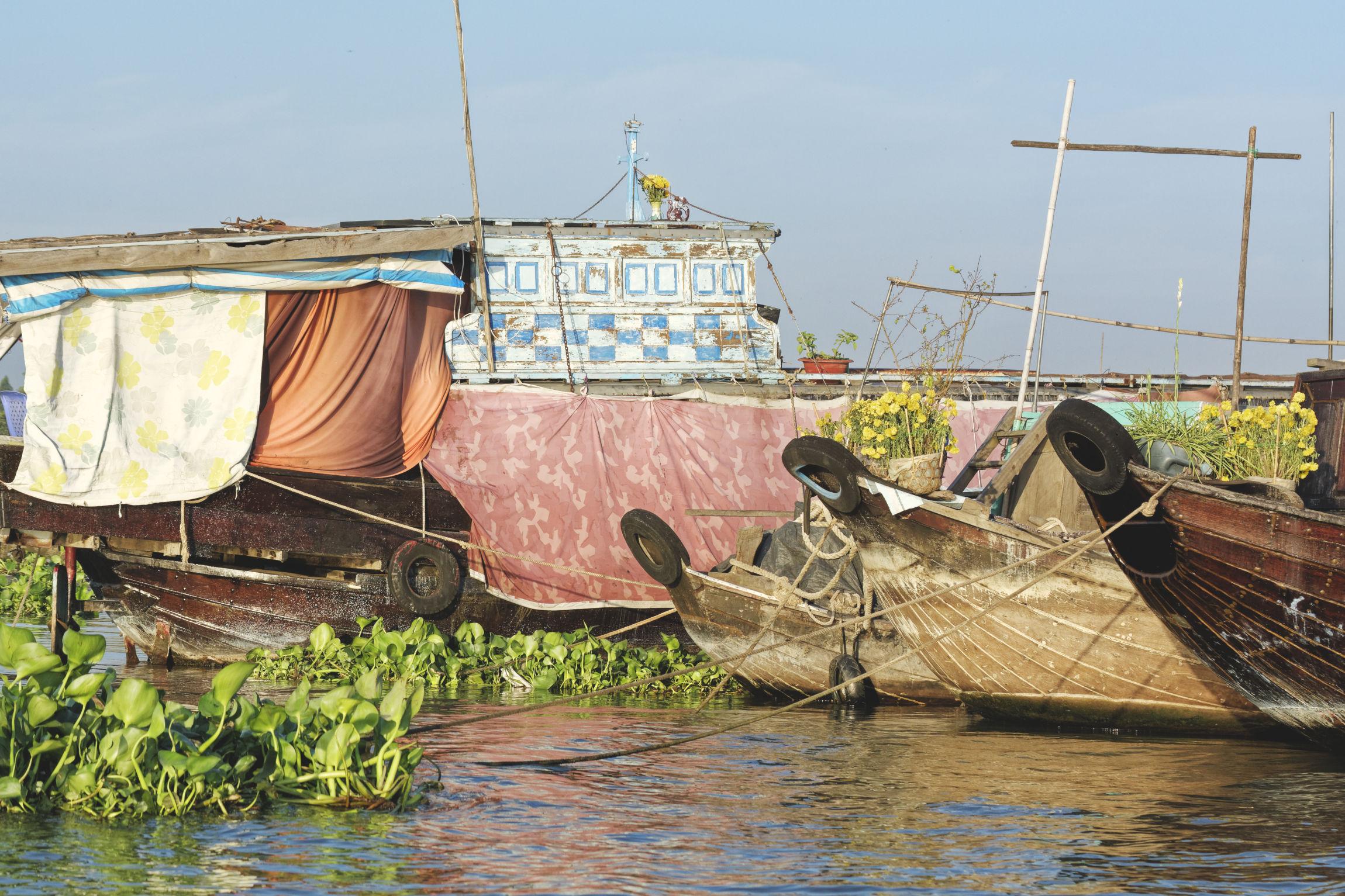 Marché flottant Long Xuyen