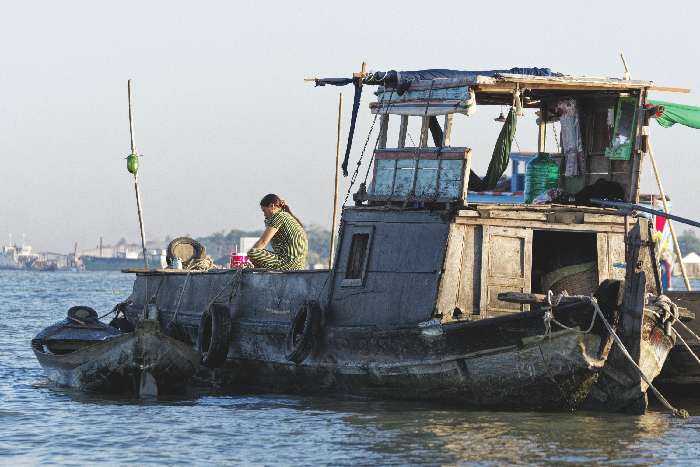 Delta du Mékong marché flottant