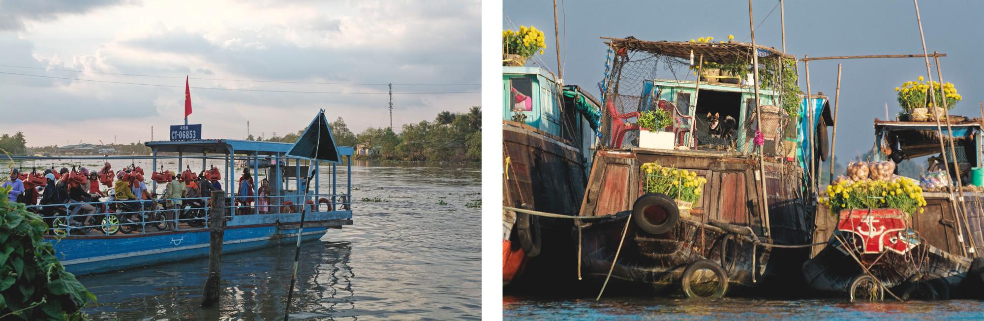 Delta du Mékong bateaux