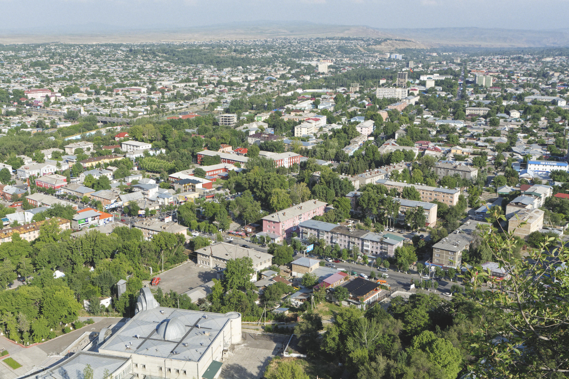 Vue sur la ville d'Och depuis Sulaiman-Too Kirghizstan