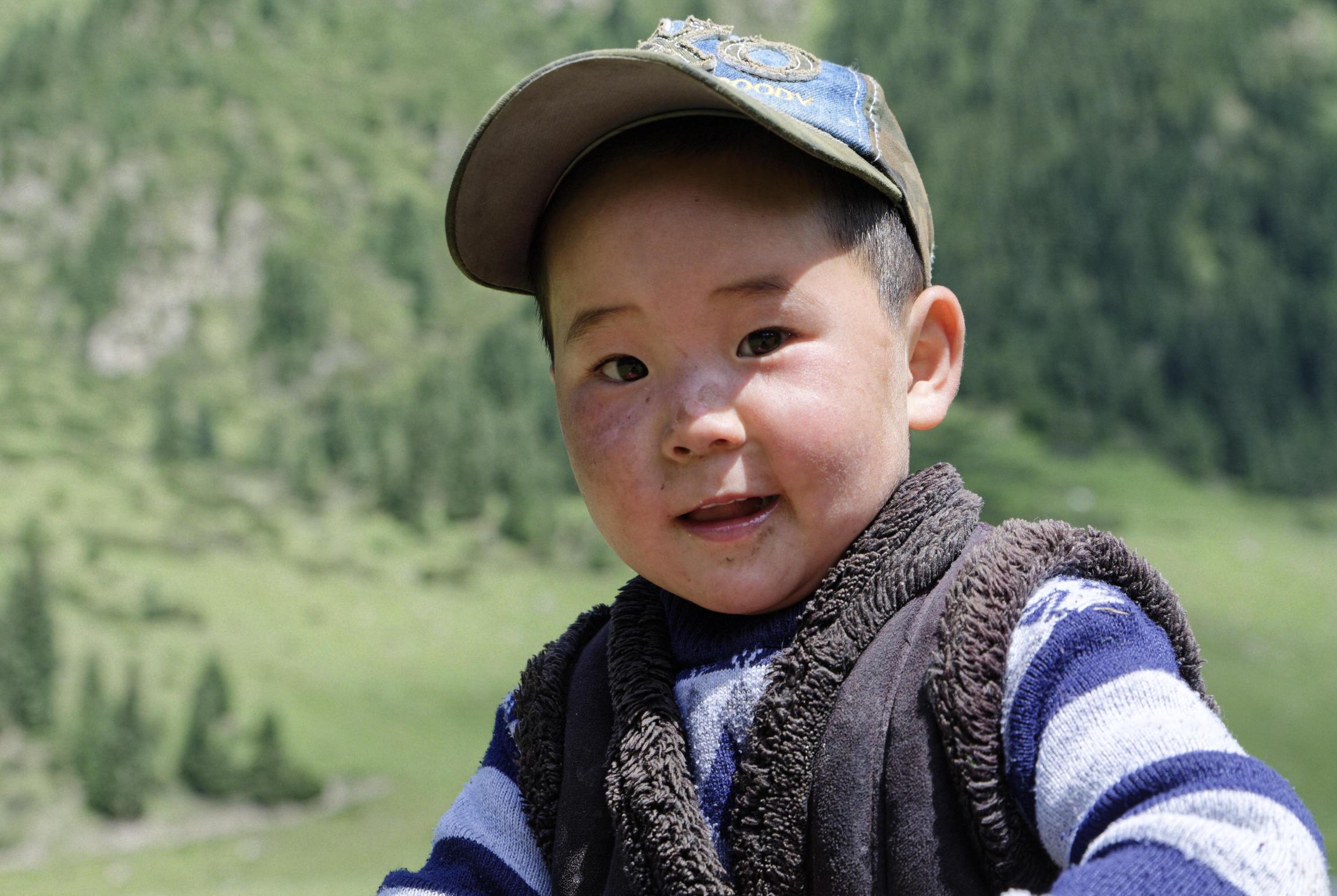 Petit garçon kirghiz
