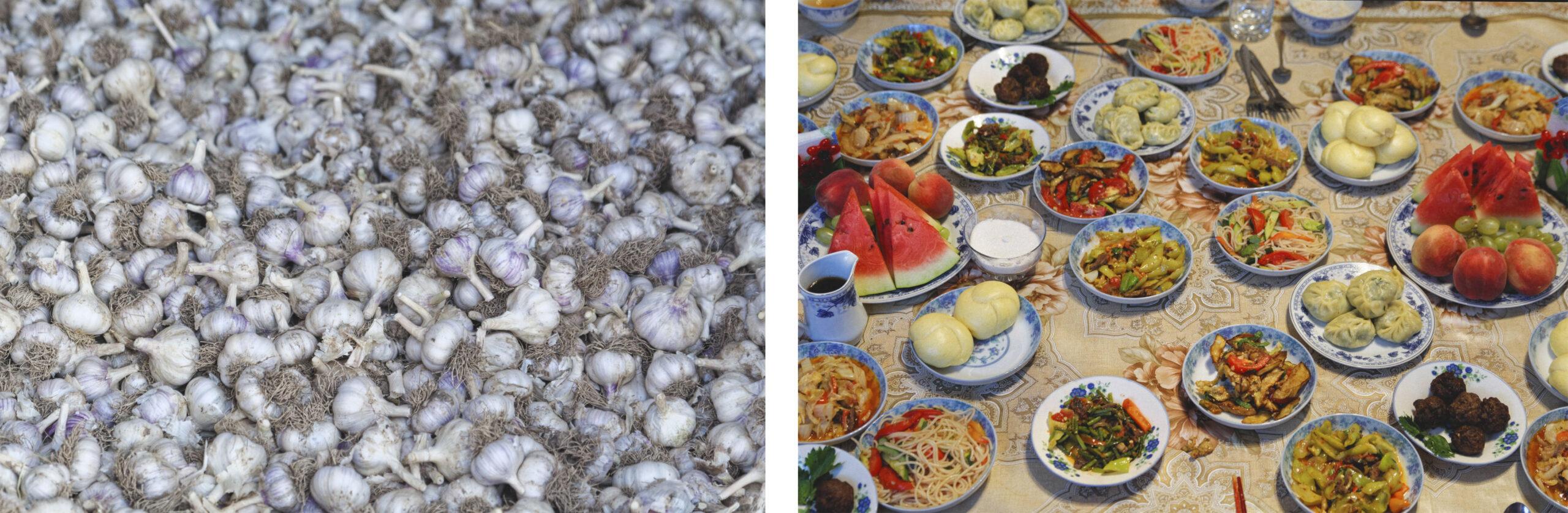 Ail et repas traditionnel doungane