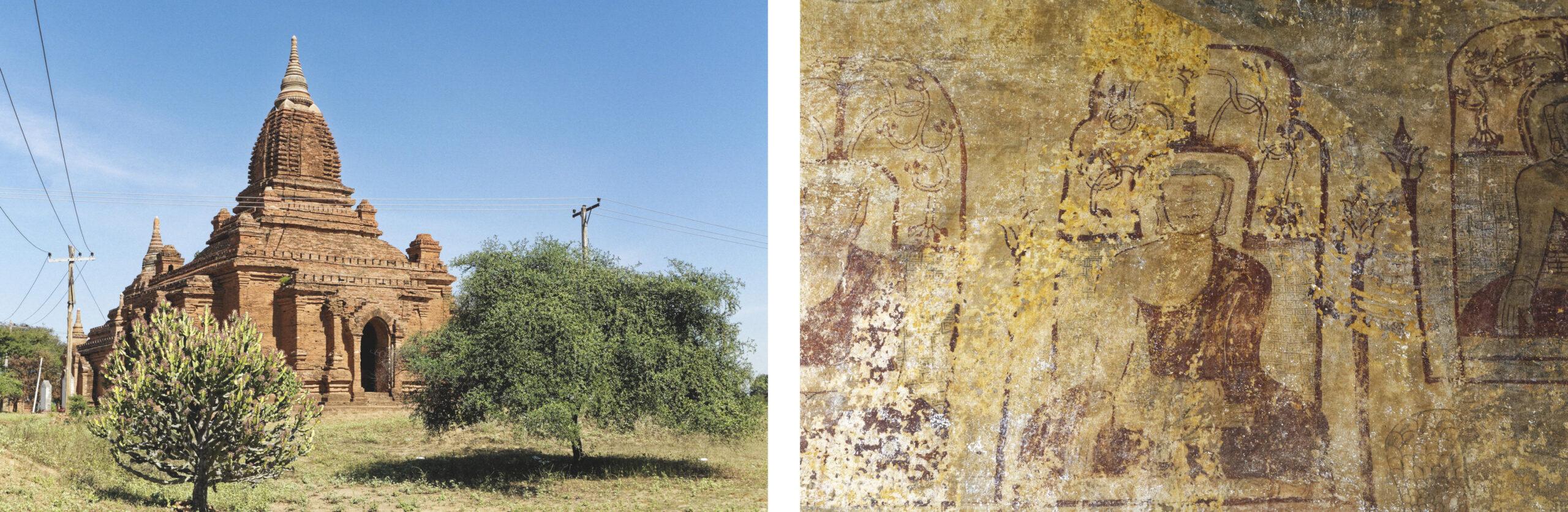 Temple et peinture Bagan