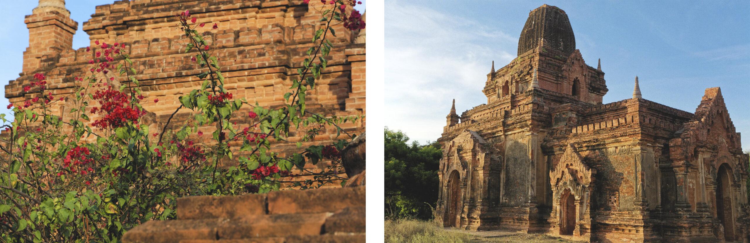 Temples au coucher du soleil