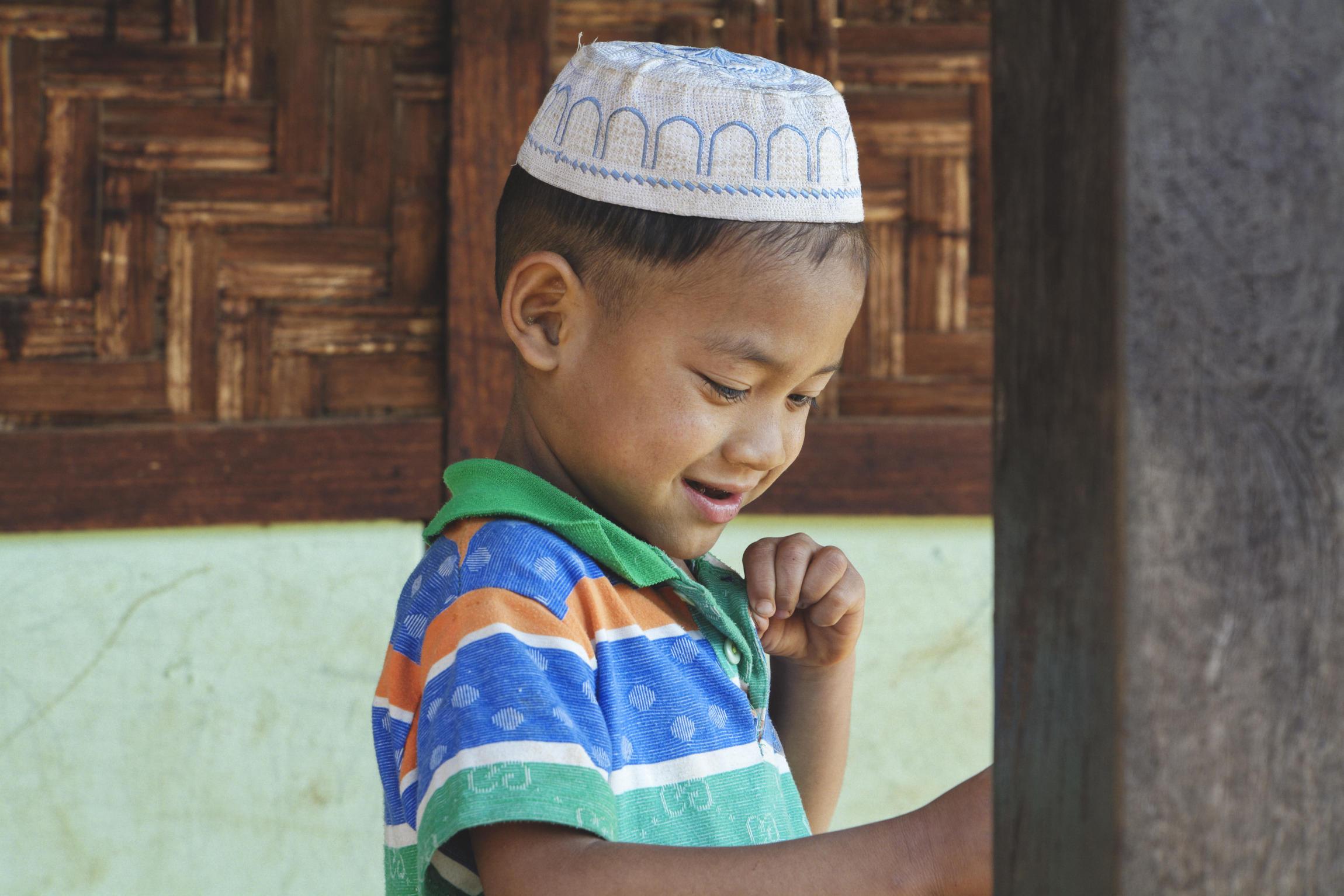 Portrait petit écolier musulman