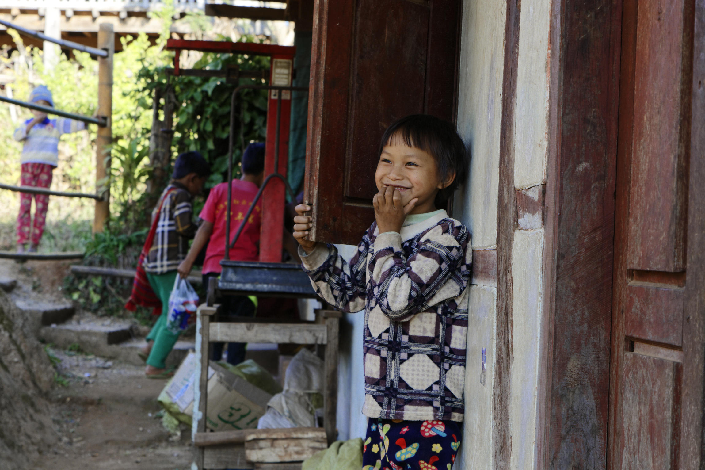 Portrait d'enfant village palaung