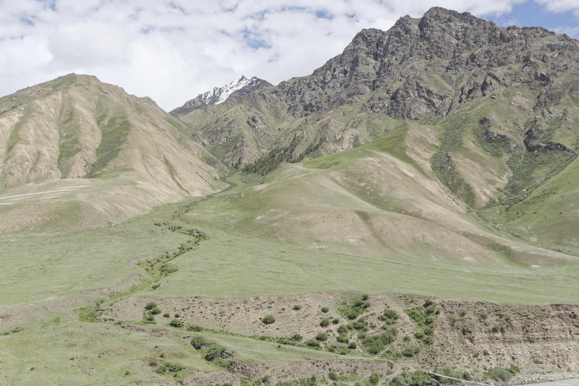 Montagne Inylchek Kirghizstan