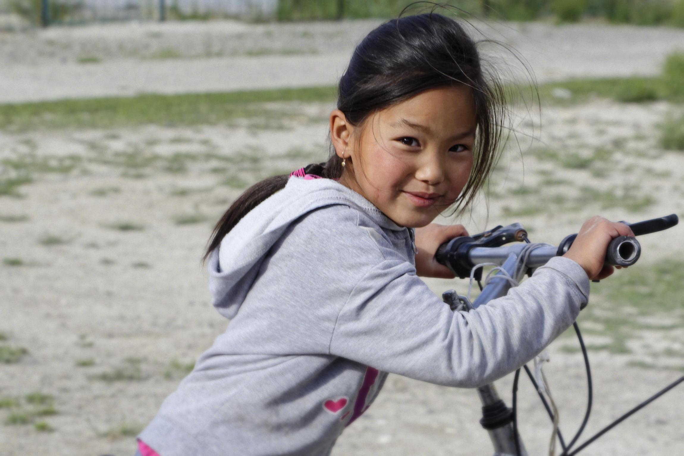 Portrait d'enfant Enilchek Kirghizstan