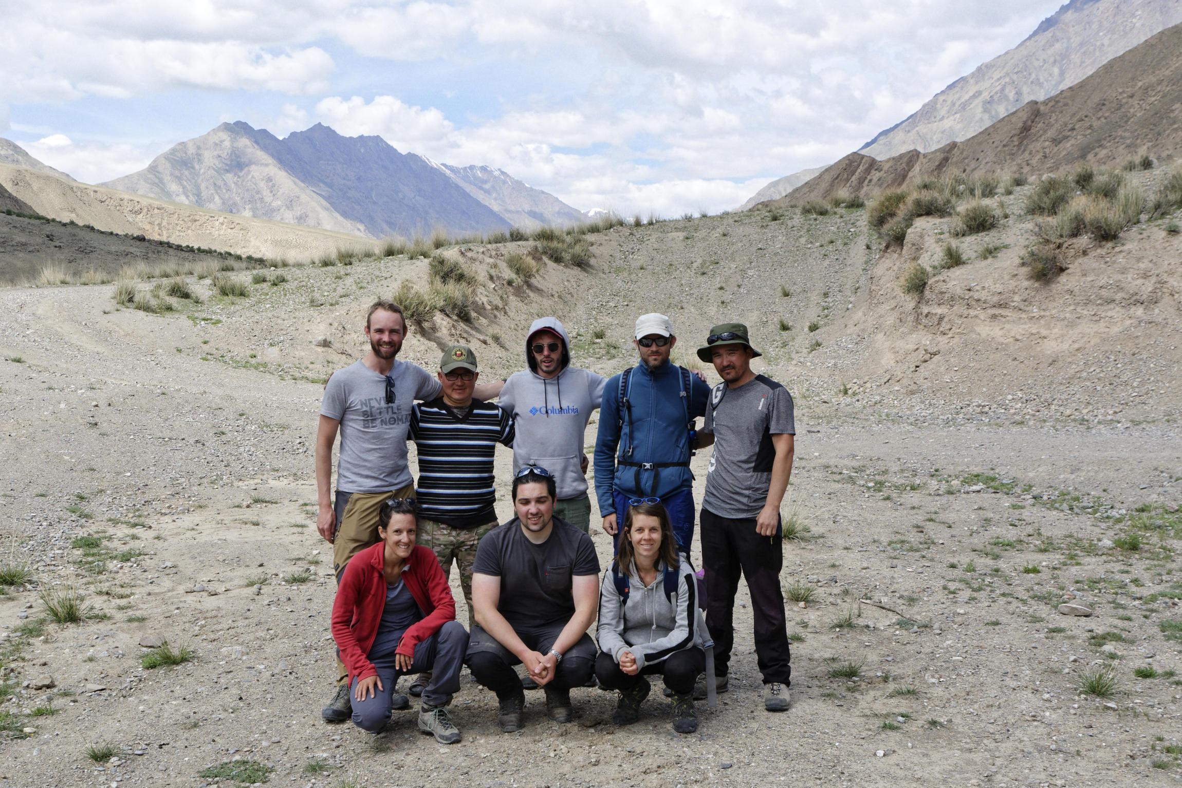 Portrait de groupe région d'Inylchek Kirghizstan