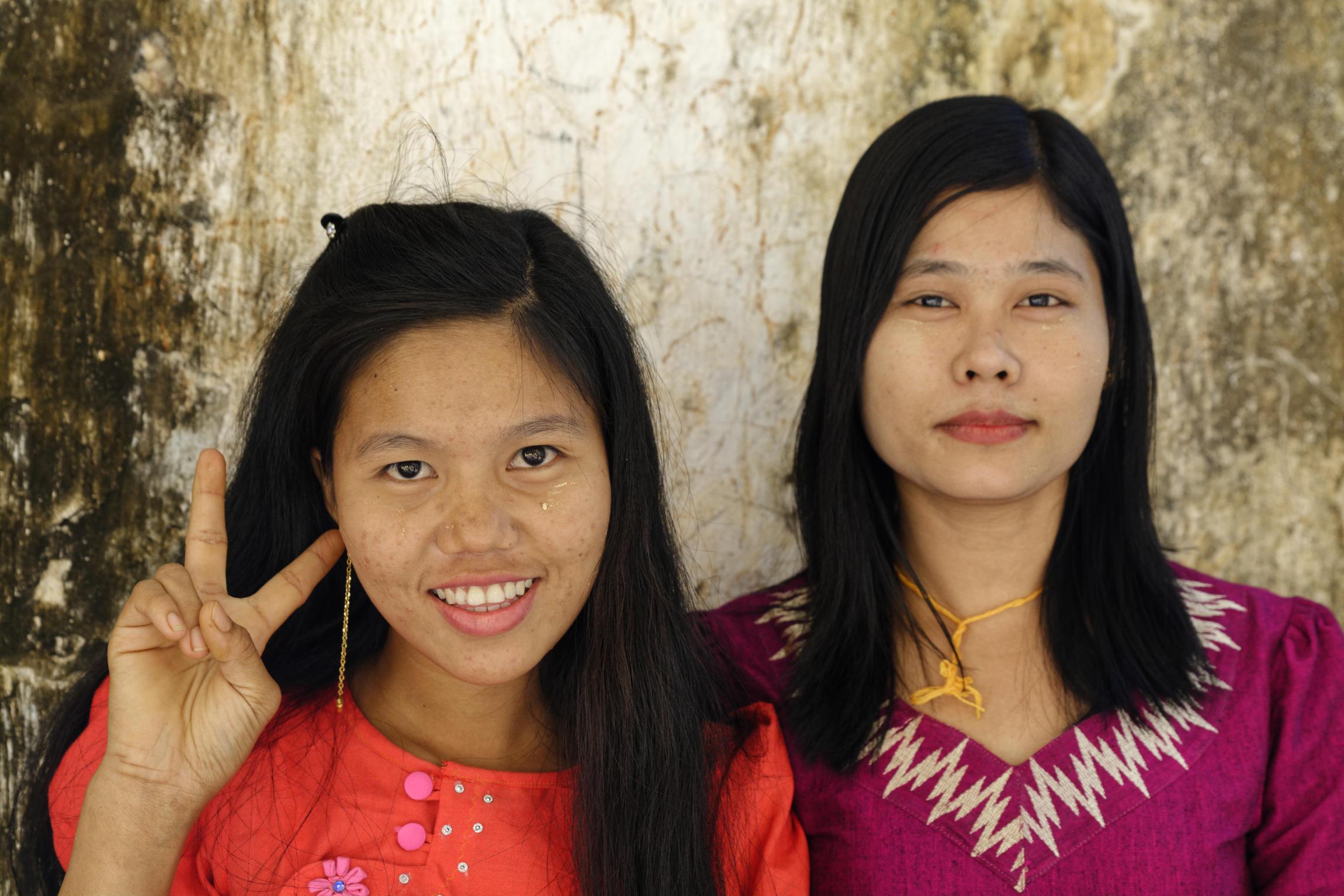 Portrait de jeunes Birmanes