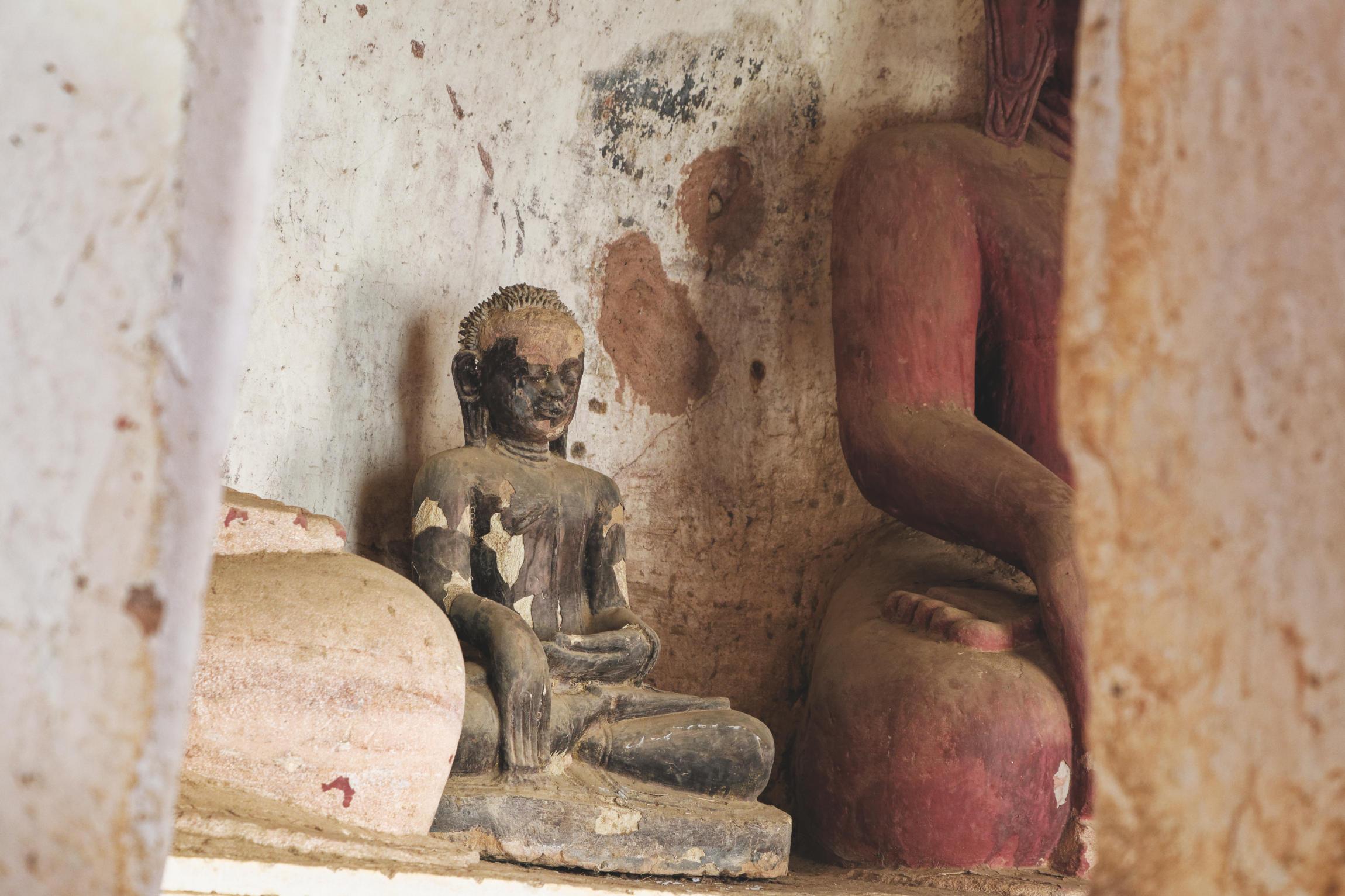Po Win Taung : statuette du Bouddha