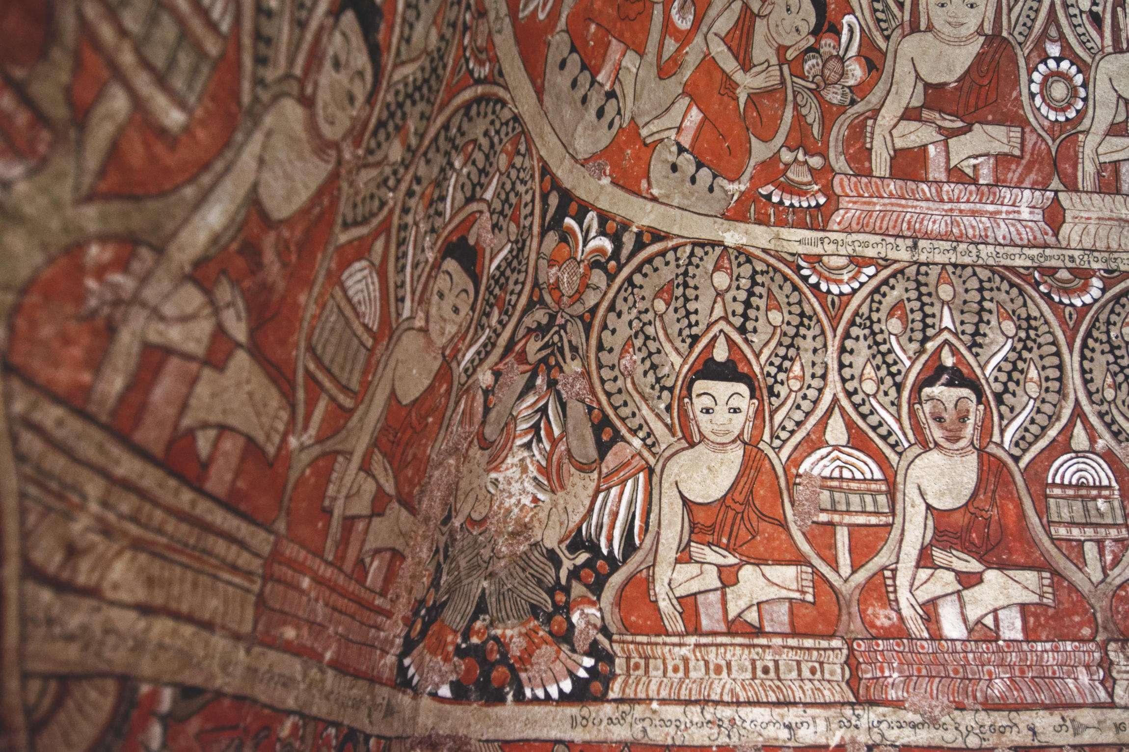 Po Win Taung : peintures bouddhiques