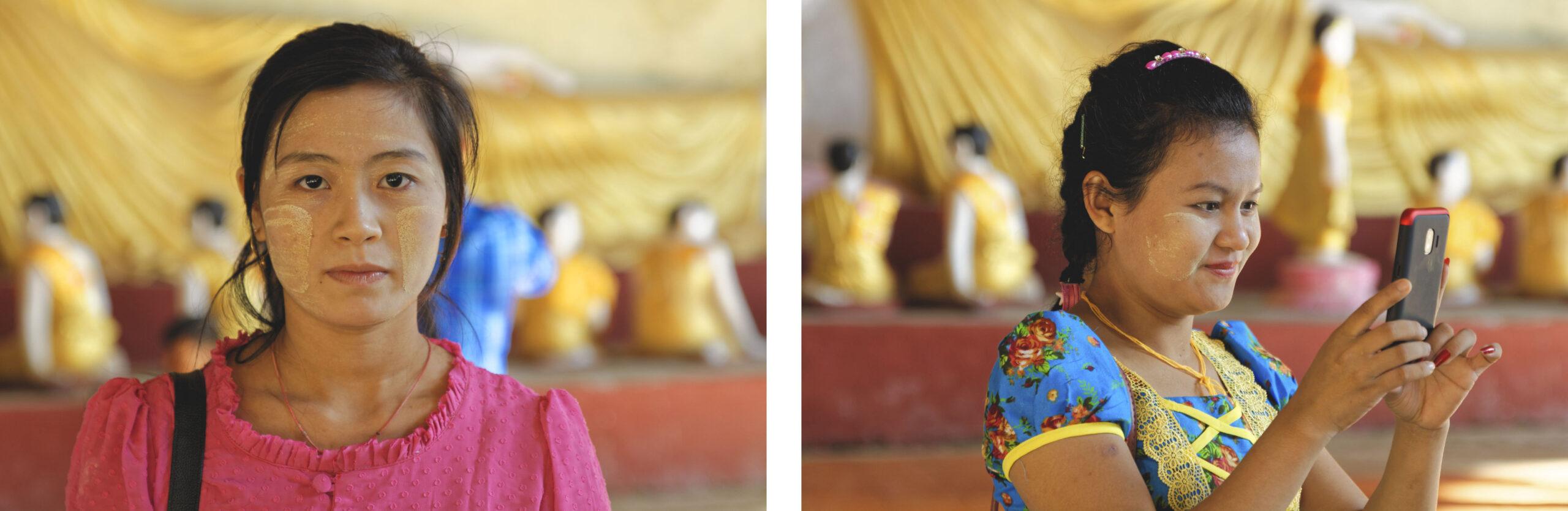 Portraits de jeunes Birmanes