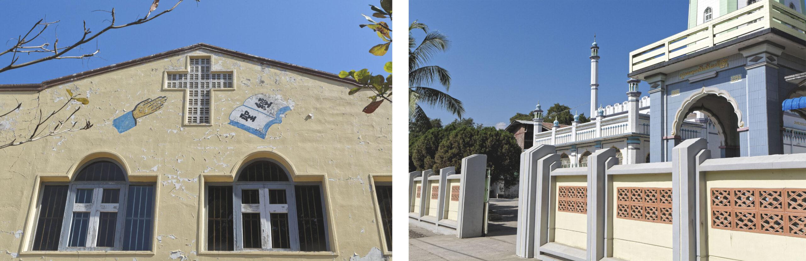 Église et mosquée Hsipaw