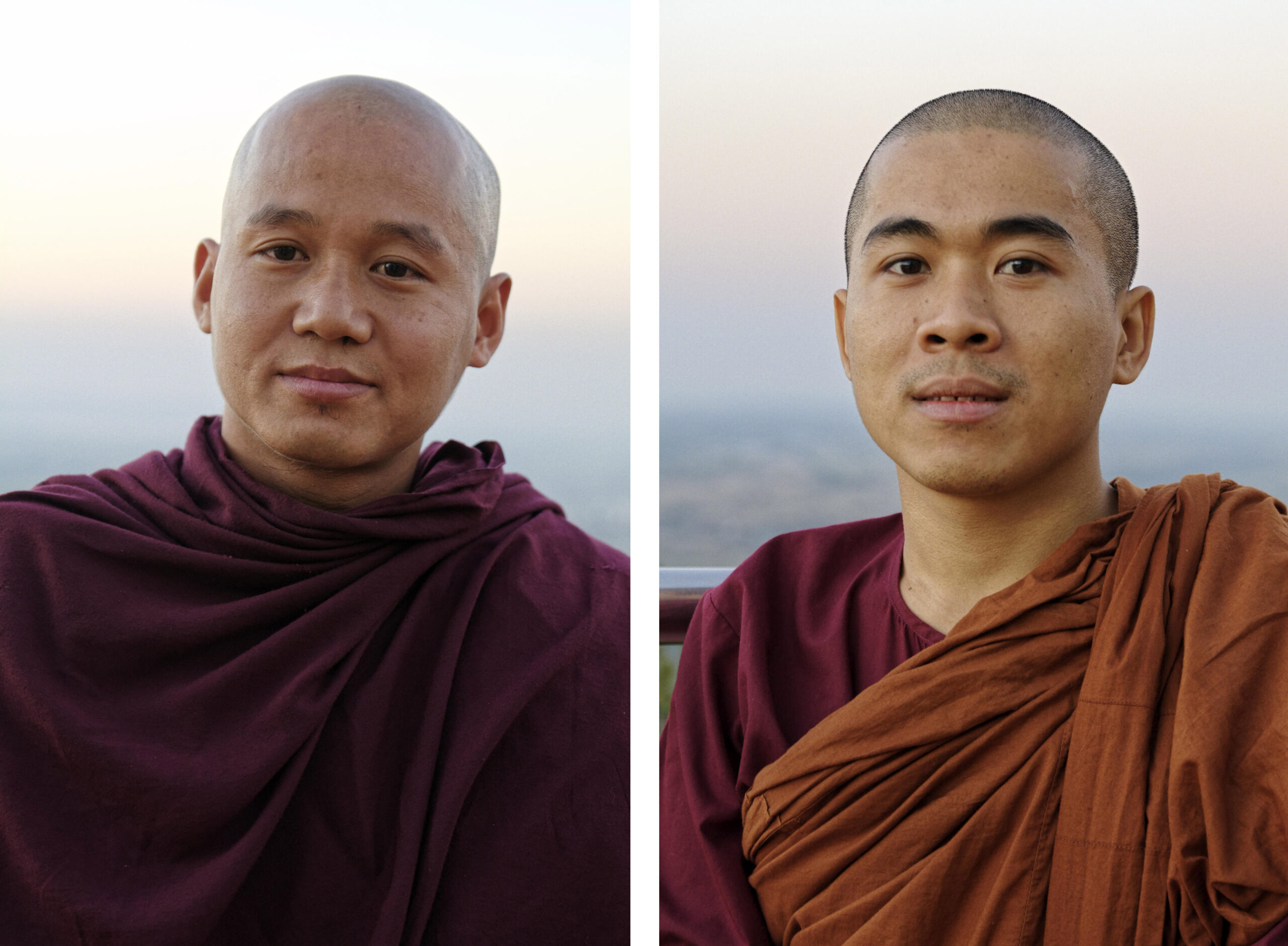 Portraits d'U Sa et Ashin Panya