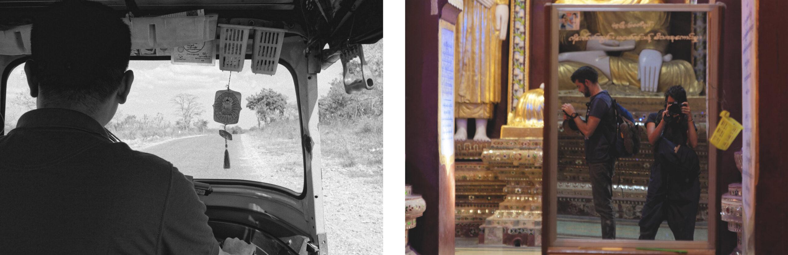 Turktuk et autoportrait dans le miroir