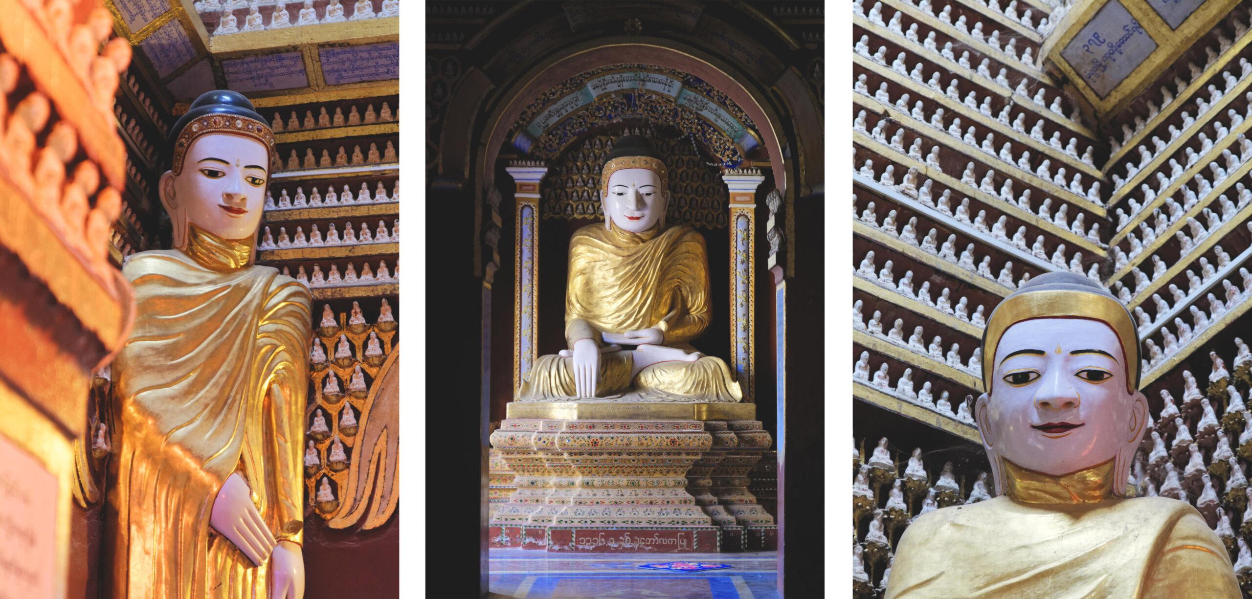 Sculptures et figurines du Bouddha à Thanbodday